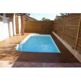 Piscine standard for Piscine bois debordement