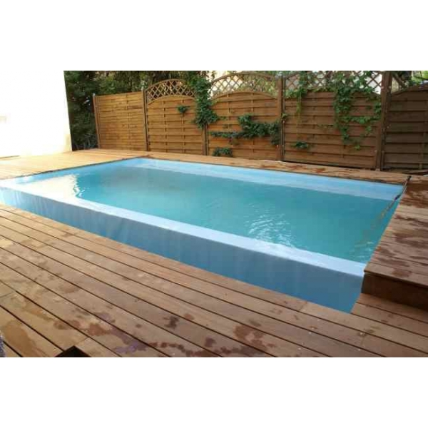 Piscine a d bordement for Piscine miroir plan
