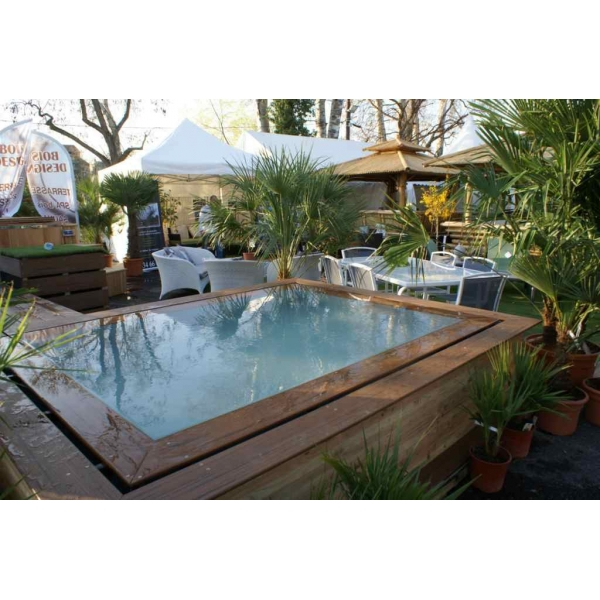 Piscine miroir for Piscine bois debordement