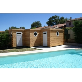 POOL HOUSE MADRIER BOIS