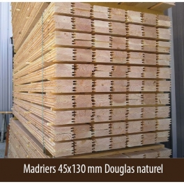 Madriers 45x130 mm Douglas naturel